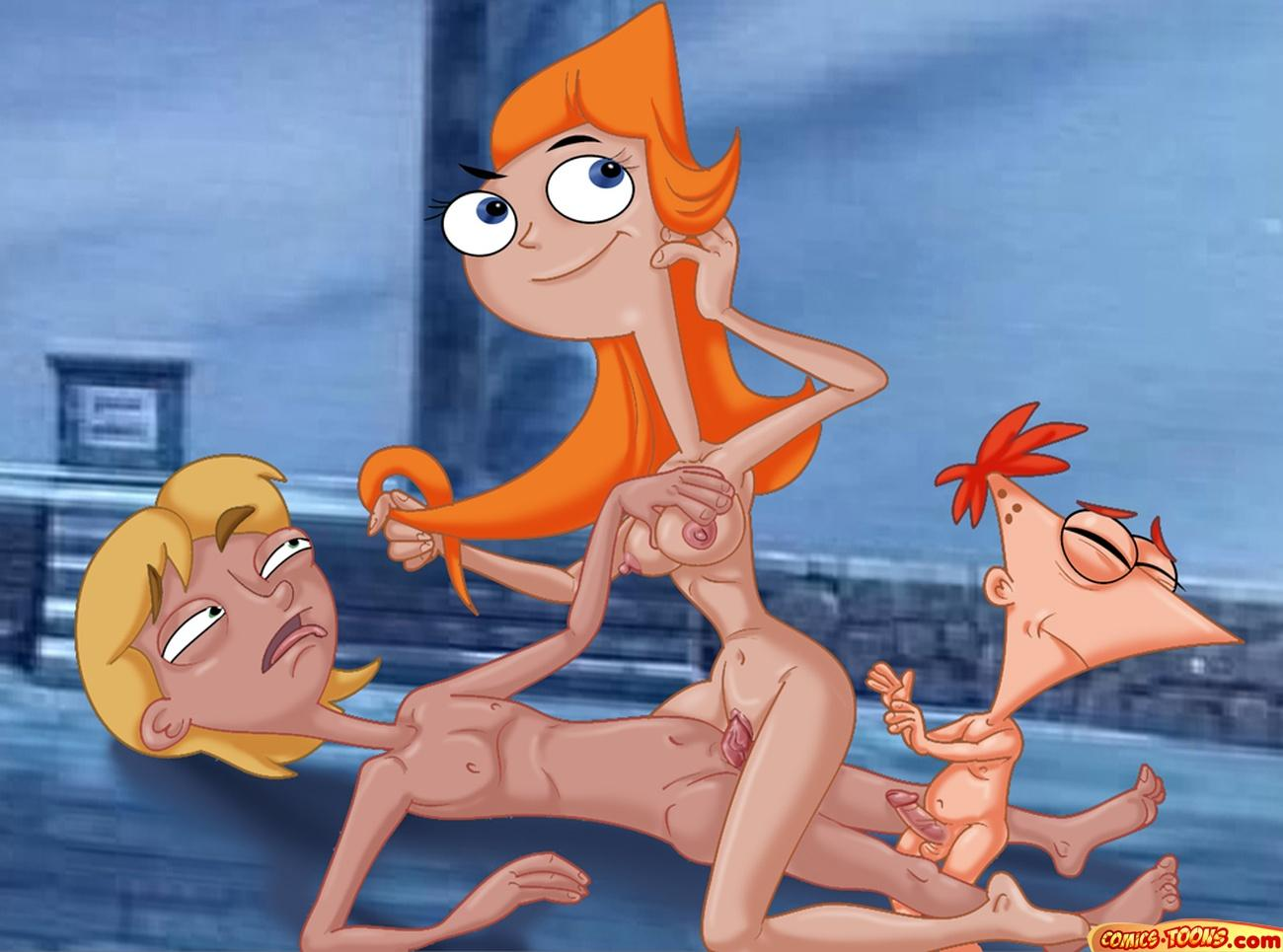candace phineas feet ferb and Shaved bottomless in a tank top