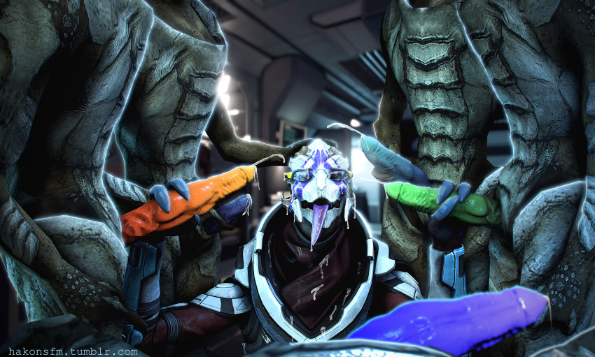 andromeda effect naked vetra mass Featuring dante from devil may cry and knuckles