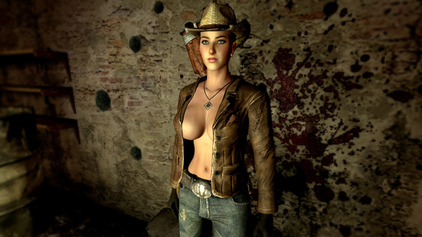 vegas chinese new fallout stealth suit Female predator x male human